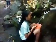 Indonesia nymph outdoor nature douche