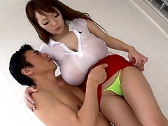 Ultra-kinky Japanese chick Hitomi Tanaka in Best JAV censored Bathroom, Big Tits movie