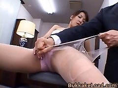 Sumptuous real japanese Shiho getting jizz