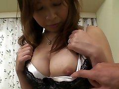 Ugly Japanese girlie Machiko Nishizaki cravings of getting boned