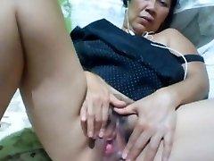 Filipino grannie 58 plumbing me stupid on cam. (Manila)1