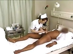 Asian nurses drain black jizz-shotgun