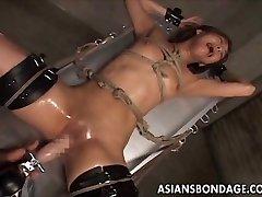 Japanese restrain bondage pummeling machine