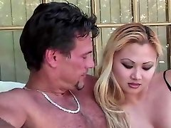 Blond Asian Breezy Is Doing Her Duty Gargling Cock