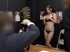 Epic Japanese doll in Amazing Casting JAV clip