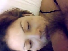 Riding penetrate and mouth cum with face