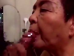 Japaneese granny siep 2 - blowing