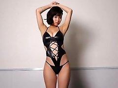 Miyu dancing - glistening gimp outfit non-nude