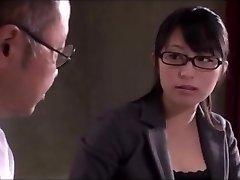 Japanese office girl sucky-sucky service