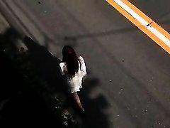 Tiny big-boobed Japanese wife breastjob
