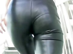 Asian modelling spandex catsuit