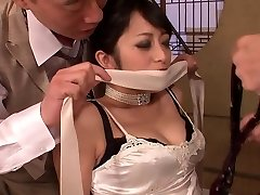 Classy sweetheart gets had threesome fuck after dinner