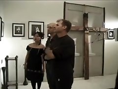Freaky Goth Asian Female Watches a Hardcore Bukkake Video