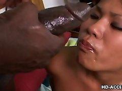 Asian bitch Kyanna Lee interracial orgy