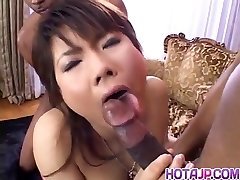 Masami Abe gets man sausage in interracial banging
