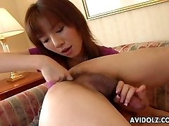 Asian whore gobbles his ass and fellates his donger