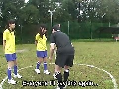 Subtitled ENF CMNF Chinese nudist soccer penalty game HD