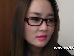 KOREA1818.COM - UPTIGHT Korean Nymph in glasses