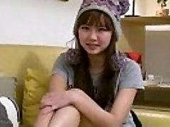 Sexy big-chested asian teen girlfriend fingers