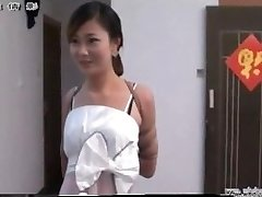 Asian girl in bondage
