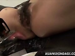 Chinese babe bond and fuckd by a plumbing