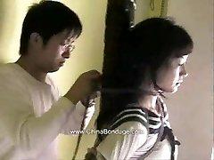 Chinese model restrain bondage