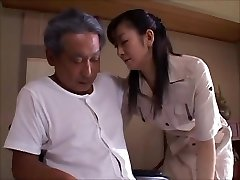 japanese wifey widow takes care of daddy in law  2