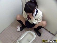 Hairy japanese nubile caresses