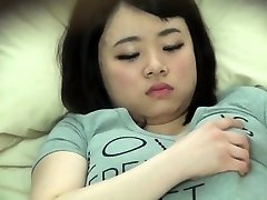 Chubby japanese stagged on