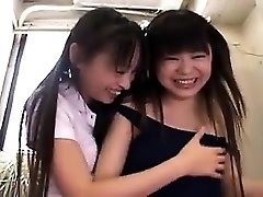 Hot amateur japanese babes threesome HD video 2