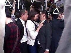Yuu Shinoda, Yuka Kojima, ASUKA Two, Yuna Shiratori in Frustrated Housewife on the Bus 1 part Four