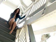 Asian pool sweetie Nonami Takizawa displays off her juicy tits on webcam
