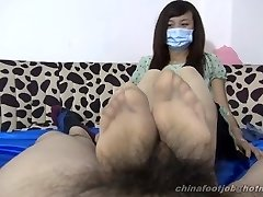 chinese double foot wank