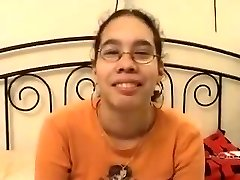 Amateur - Cute Asian Glasses Teen Drilled & Facial