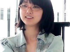 Asian Glasses Chick Blowjob