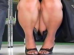 Hot up skirt compilation of flippant Asian bunnies