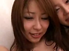 Japanese honies and White guys in group orgy