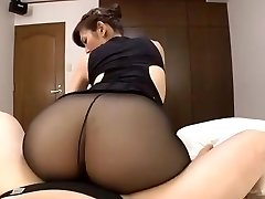 Japanese mature black tights intercourse