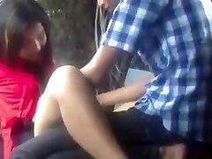 Myanmar Duo Making Enjoy in Park