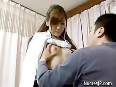 Patient visiting damsel asian doctor