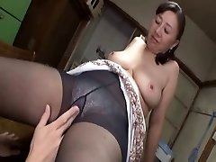 Asian mature cutie hot sex with a horny young boy