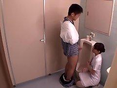 Miku Shirosaki, Rina Serino, Airi Minami in Hanjob Helping Nurse Three part 2