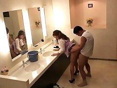 Hottest Japanese chicks Sho Nishino, Yumi Kazama in Amazing JAV censored Fingering, Immense Mammories scene