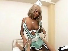 Blonde Japanese doll gets fingered, licked, boinked and ea