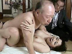 Hardcore grandfather fucks young babe