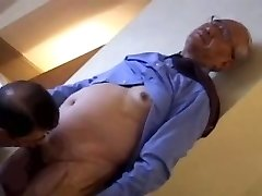 japanese two oldermen toying