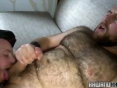 Chubby bearded hunk gets anally fucked