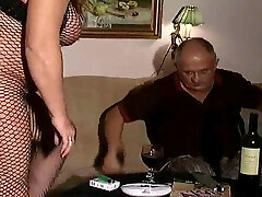 Handsome Swedish Cub with Mature full woman