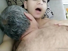 Crispy Boy in a Very Super-steamy Sex Show With Old Guy