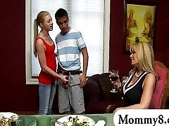 Teen shows stepmom she is good at sex